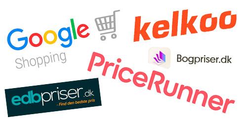 Prissammenligninger - sammenlign priser på nettet - Google Shopping, Pricerunner, Kelkoo, Bogpriser.dk og edbpriser,dk